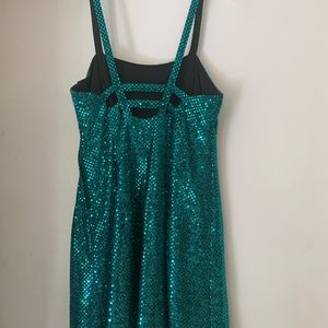 All that Jazz Dresses - Peacock blue sequin dress